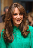 Kate debuted a beautiful blow dry along with some new bangs at the opening of the Natural History Museum's Treasure Gallery in 2012.