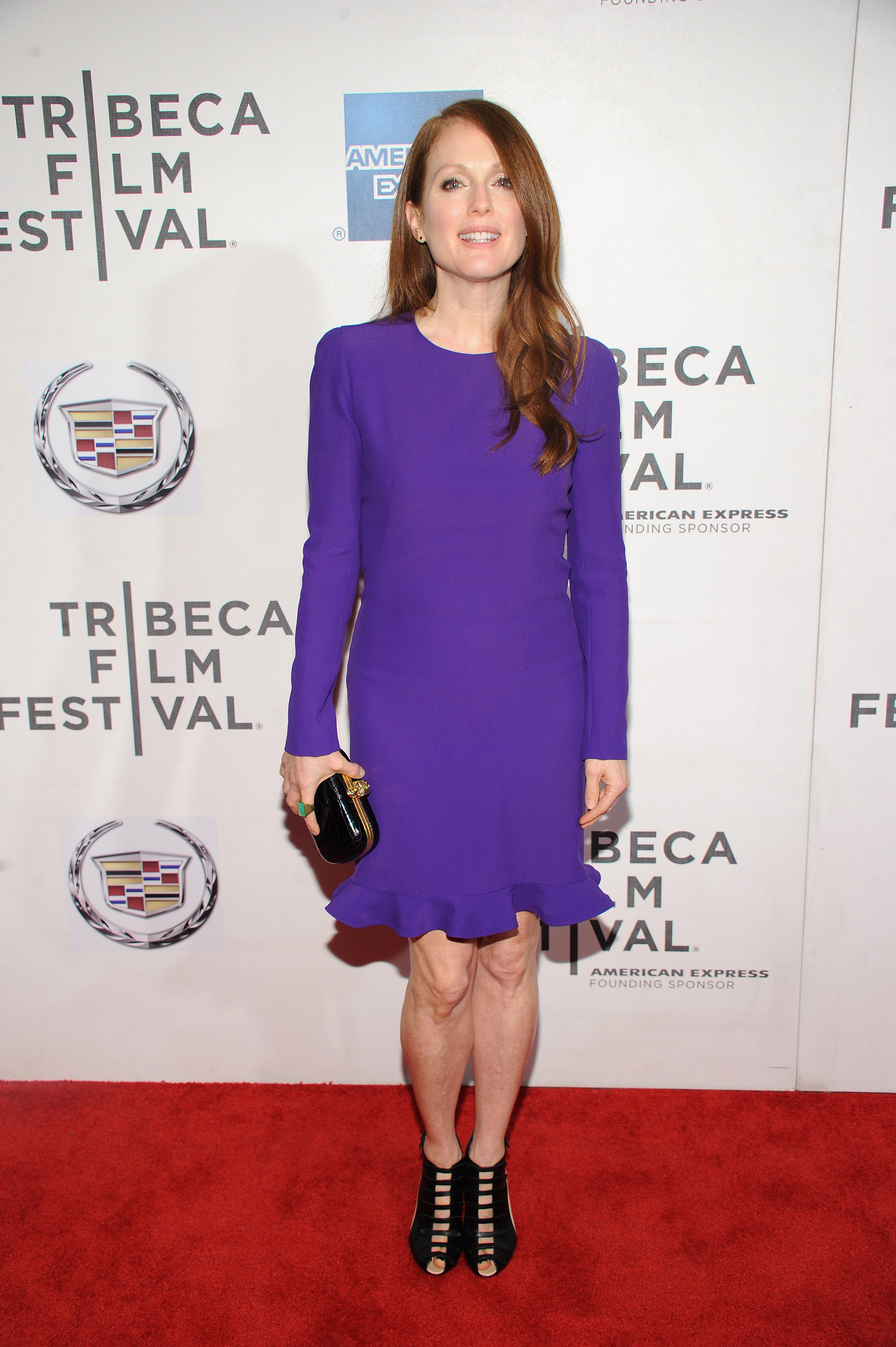 Julianne Moore stunned in purple for