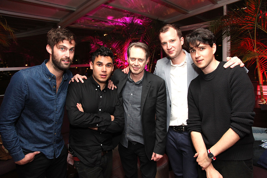 Steve Buscemi posed with the guys from Vampire Weekend at their show for the festival.