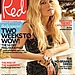 Reese Witherspoon poses near a pool on the cover of Red magazine.