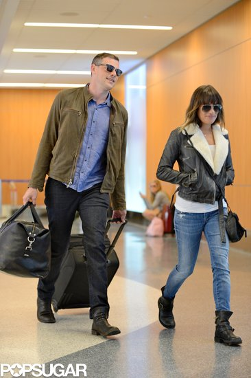 Cory Monteith and Lea Michele traveled through LAX together.