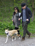 Channing Tatum and pregnant Jenna Dewan took their dogs for a walk in London.