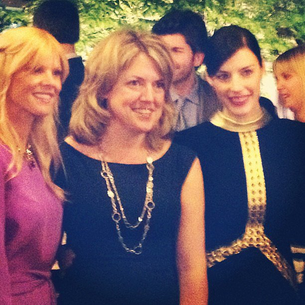 Mad Men's Jessica Paré posed for a photo along with Elin Nordegren at Friday night's festivities.
