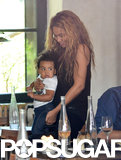 Beyoncé Knowles took her daughter Blue Ivy Carter to lunch in Paris on Thursday.