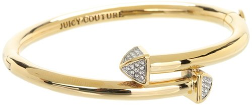 Juicy Couture - Pave Stud Hinged Bangle Bracelet (Gold) - Jewelry