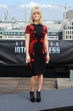 Alice Eve chose a cap-sleeved Reem Acra sheath from the designer's Fall '13 collection for the Berlin photocall. The bright red floral sequin detailing provided a dash of opulence, while her mesh-infused Bionda Castana ankle boots evoked something altogether sexier.