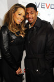 Mariah Carey and Nick Cannon were head to head in December 2009 for the launch of Vevo in NYC.