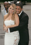 Nick Cannon wrapped his arms around Mariah Carey in NYC in June 2004 during the Fresh Air Fund Salute for American heroes.