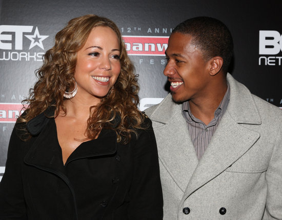 Nick Cannon could not keep his eyes off Mariah Carey at BET's Urban World Film in Tennessee in September 2008.