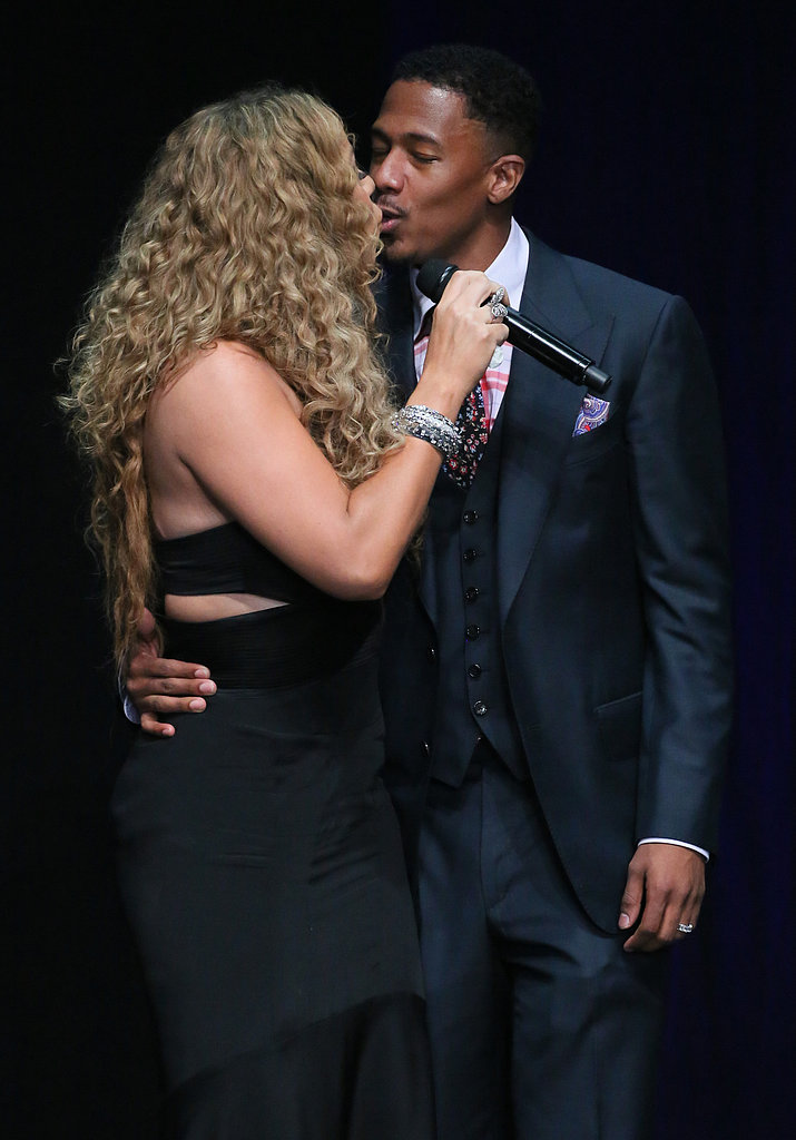 Mariah Carey and Nick Cannon packed on the kisses in LA while attending the BMI Urban Awards in September 2012.
