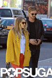 Elizabeth Olsen and Boyd Holbrook spent the day together in NYC on Tuesday.