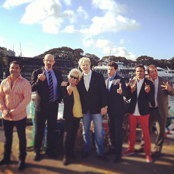 The guys got a little bit rude on their photo shoot. Source: Instagram user robmillsymills