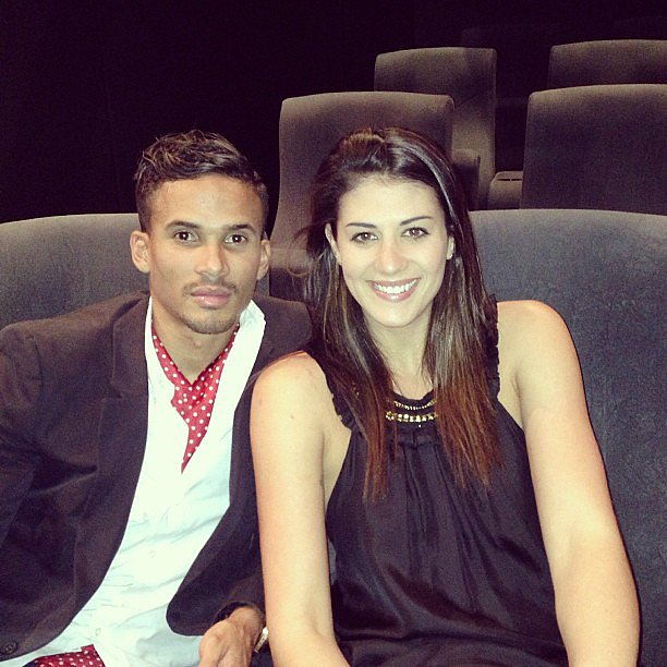 Stephanie Rice posed with a stylish John Steffensen. Source: Instagram user itsstephrice