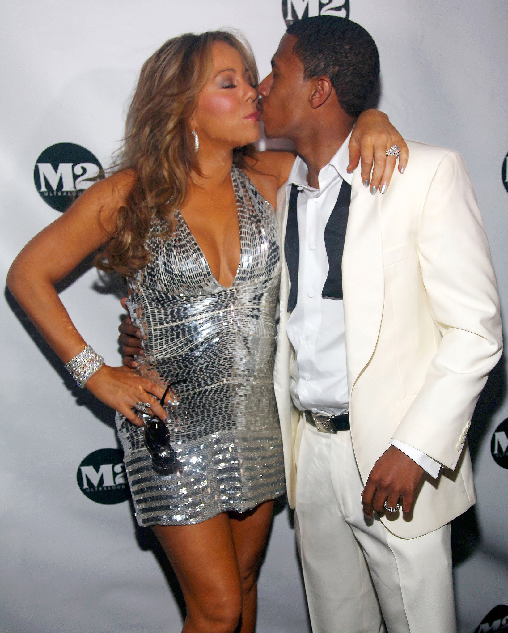 Mariah Carey and Nick Cannon rang in t