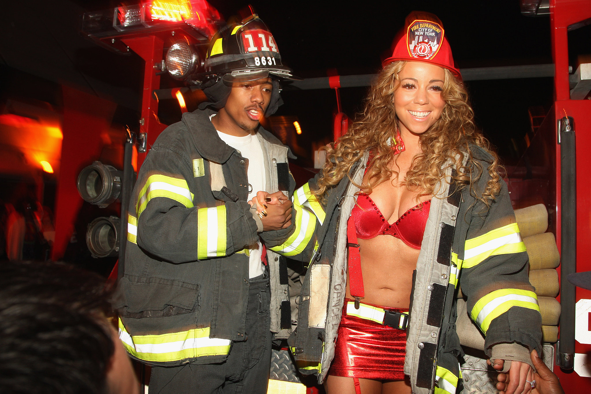 Nick Cannon and Mariah Carey put out the fire in October 2008 at thei