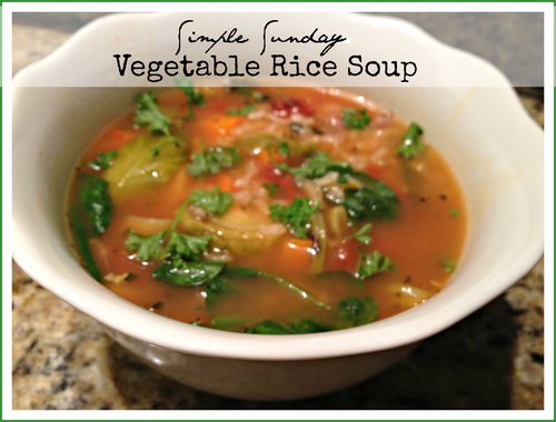 Simple Sunday Vegetable Rice Soup