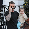 David Beckham Carrying Harper in London Pictures