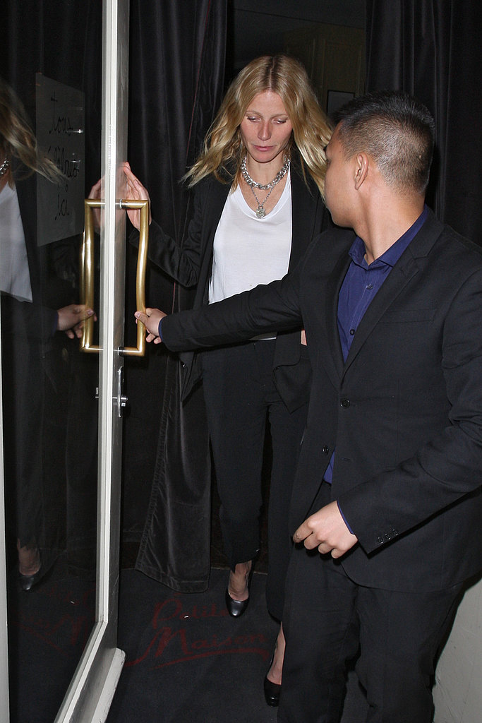 Gwyneth Paltrow Reunites With Chris Martin For a London Date Night
