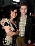 Alia Shawkat and Michael Cera smiled at the premiere.