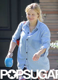 Kristen Bell smiled in LA on Saturday.