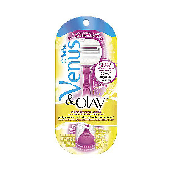 Are you ready for shorts-and-skirts weather? I wasn't until Venus and Olay's Exfoliating Razor in Sugarberry ($11) fell into my lap. The moisture bars that flank the five razor blades lock in moisture and exfoliate, leaving you with envy-inducing legs. — MD