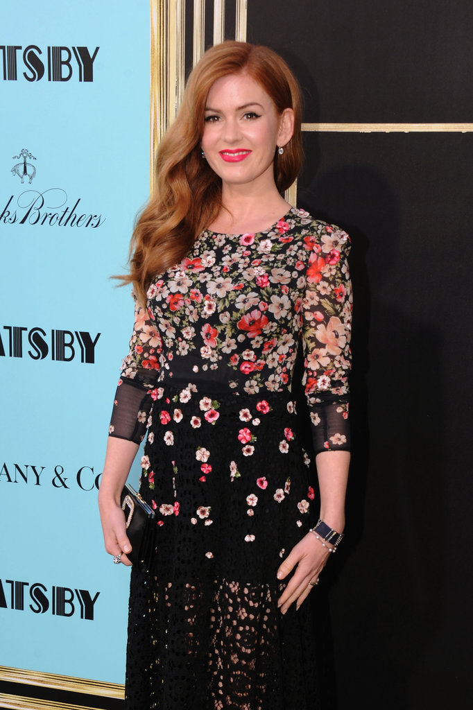 Isla Fisher arrived on the red carpet.