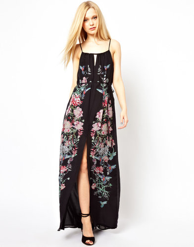 French Connection Rio Maxi Dress With Thigh Split