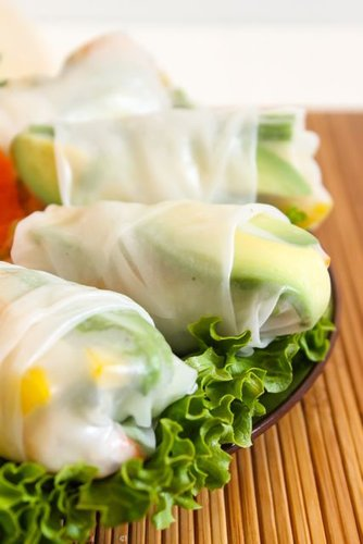 Green Curry Shrimp Rolls