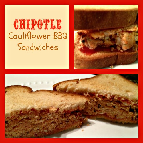 Gluten Free Chipotle Cauliflower BBQ Sandwiches