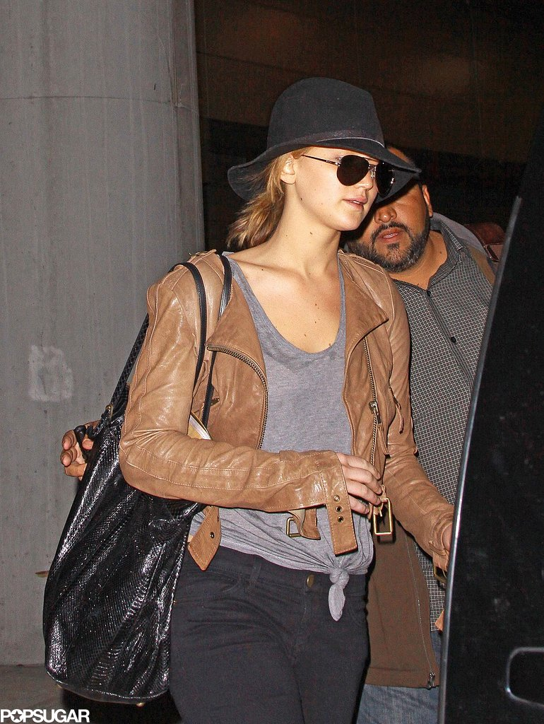 Jennifer Lawrence Leaves LA Following a Reunion With Her Ex