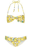 "Just looking at this Topshop yellow lemon bandeau bikini ($64) makes me happy, so it will be coming with me on all my upcoming pool and beach getaways. I also love that it features a subtly retro feel that will go great with my favorite cat-eye sunglasses."" — Melody Nazarian"