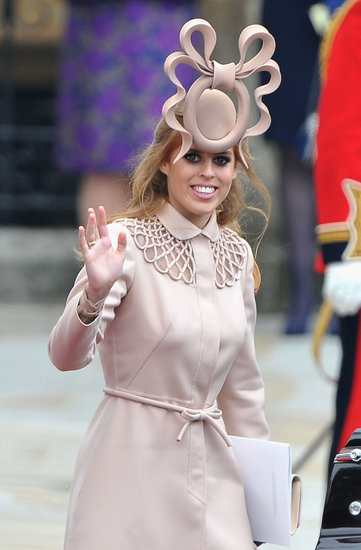 Princess Beatrice of York waved to the crowds outside the royal wedding in April 2011.