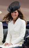 Kate Middleton's black mesh hat was ultrachic at the 2011 Trooping the Color.