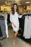 Camila Alves was a classy lady in a white lace dress and nude patent peep-toes at a Macy's appearance in Miami.