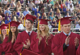 The Vampire Diaries Season Finale Pics: Shirtless Damon and Graduation