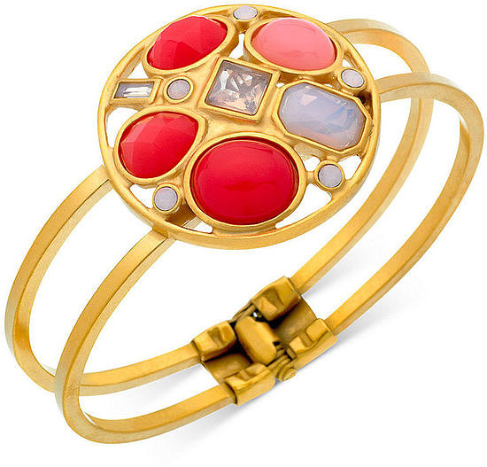 This T Tahari Open-Work Cuff Bracelet ($60) is like a sweet piece of candy (without all the calories).