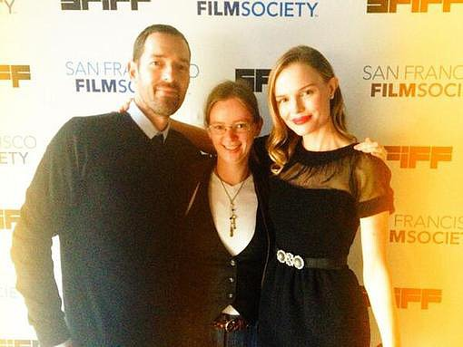 Kate Bosworth and Michael Polish posed on the red carpet at a San Francisco screening of their film Big Sur. Source: Twitter user katebosworth