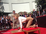 Eva Longoria snapped a photo of friend Jane Fonda at her Hollywood Walk of Fame hand and footprint ceremony.  Source: Eva Longoria on WhoSay