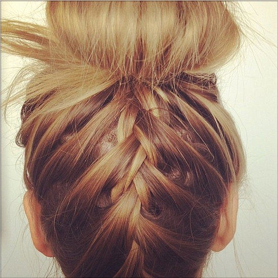 Master Nina Dobrev's French Plait Topknot