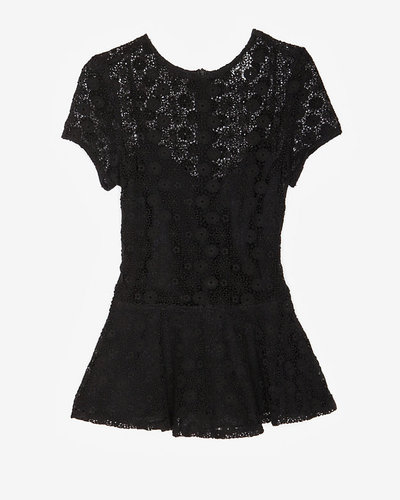 Miguelina Exclusive Floral Lace Peplum Top