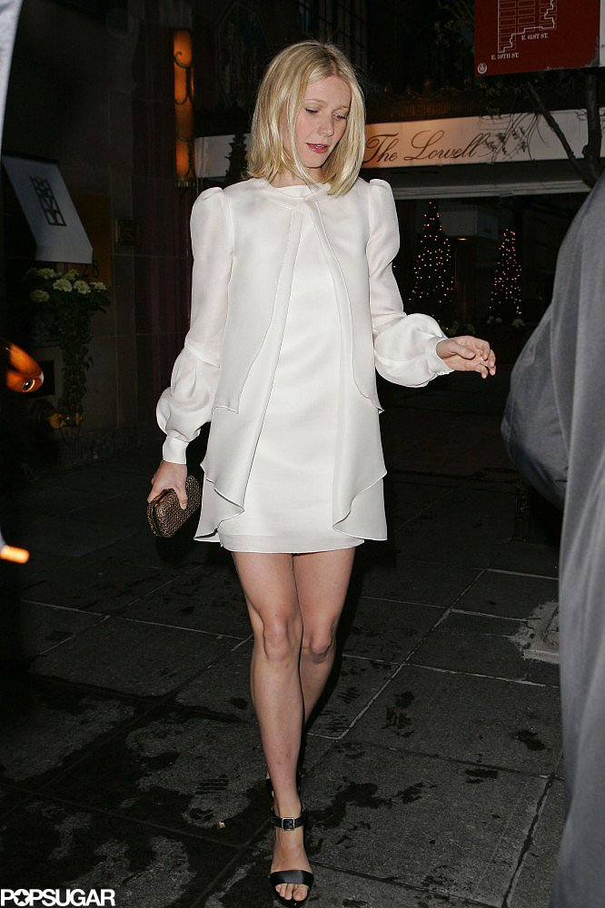 Gwyneth Paltrow headed to good friend Beyoncé Knowles and Jay-Z's wedding in NYC in April 2008.