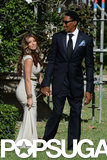 Larsa Pippen and Scottie Pippen were among the guests at Michael Jordan's Palm Beach wedding to Yvette Prieto in April.