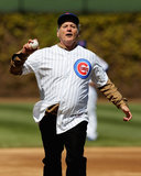 Bill Murray suited up in Chicago Cubs gear to throw out the first pitch in April 2012.