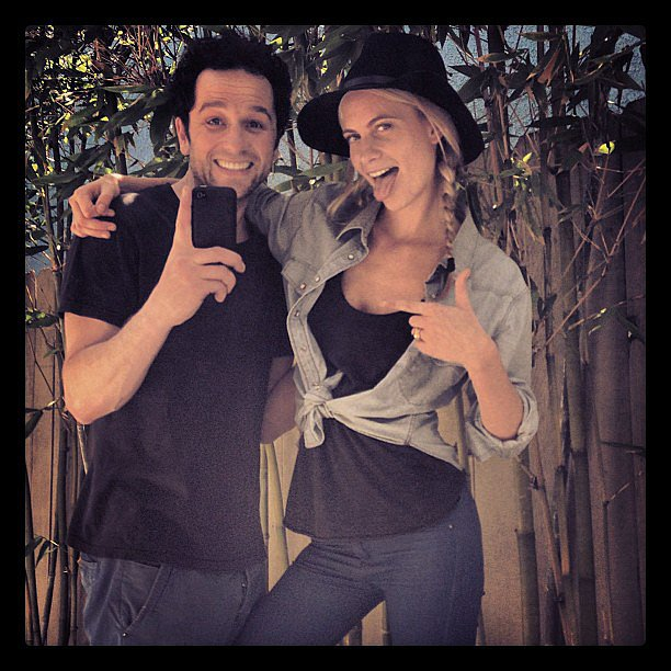 Poppy Delevingne gave a thumbs-up while posing with a friend. Source: Instagram user poppydelevingne
