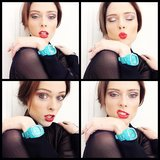 Coco Rocha collaged her candid snap while showing off a bright new watch. Source: Instagram user cocorocha