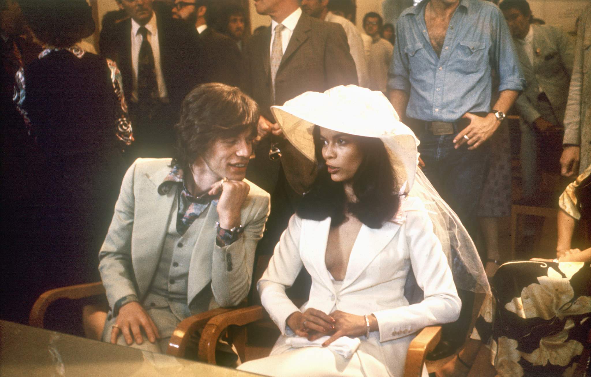 Mick and Bianca Jagger made it official during May of 1971 in St.-Tropez.