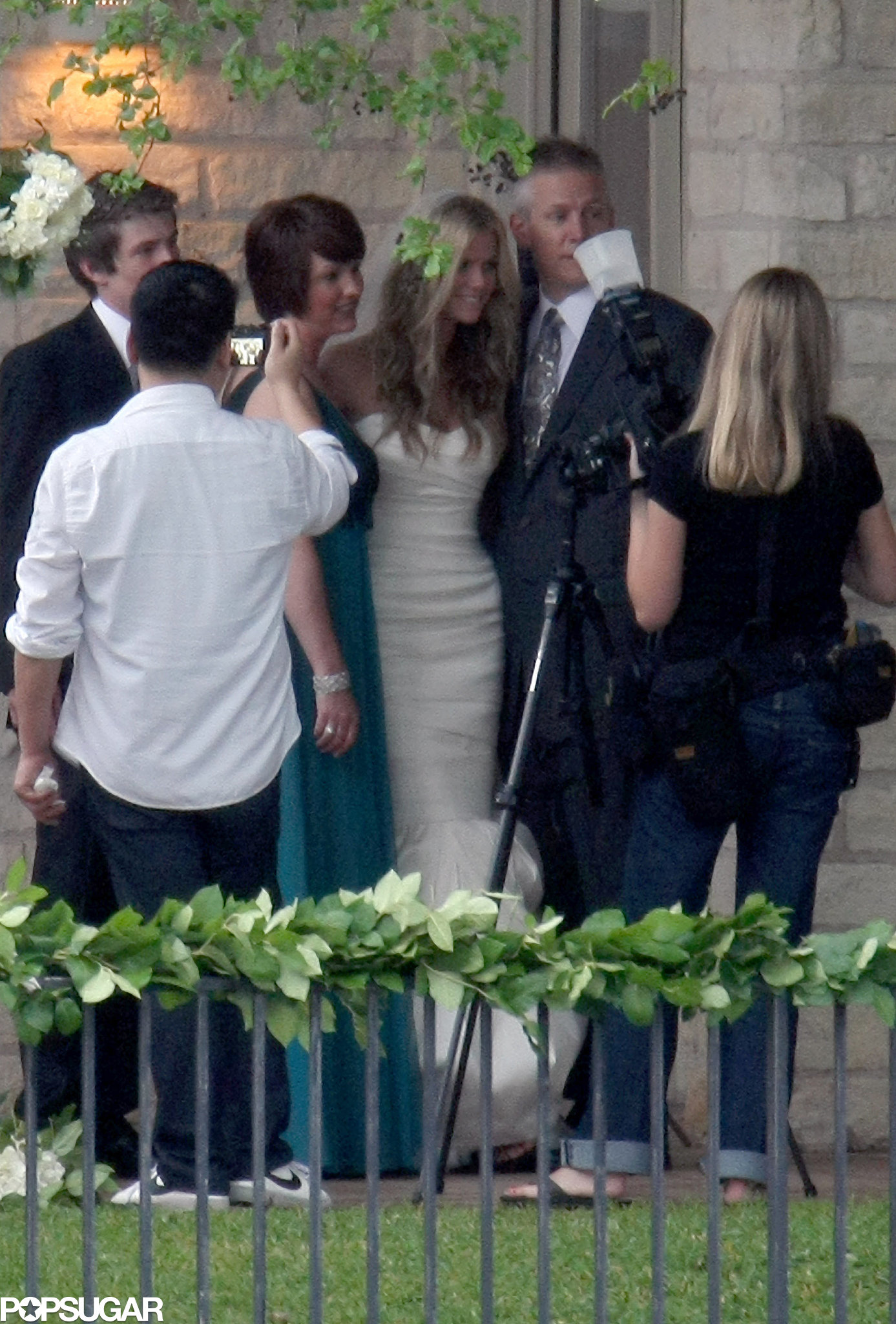 Brooklyn Decker wore white for her big day with husband Andy Roddick in April of 2009 in Texas.
