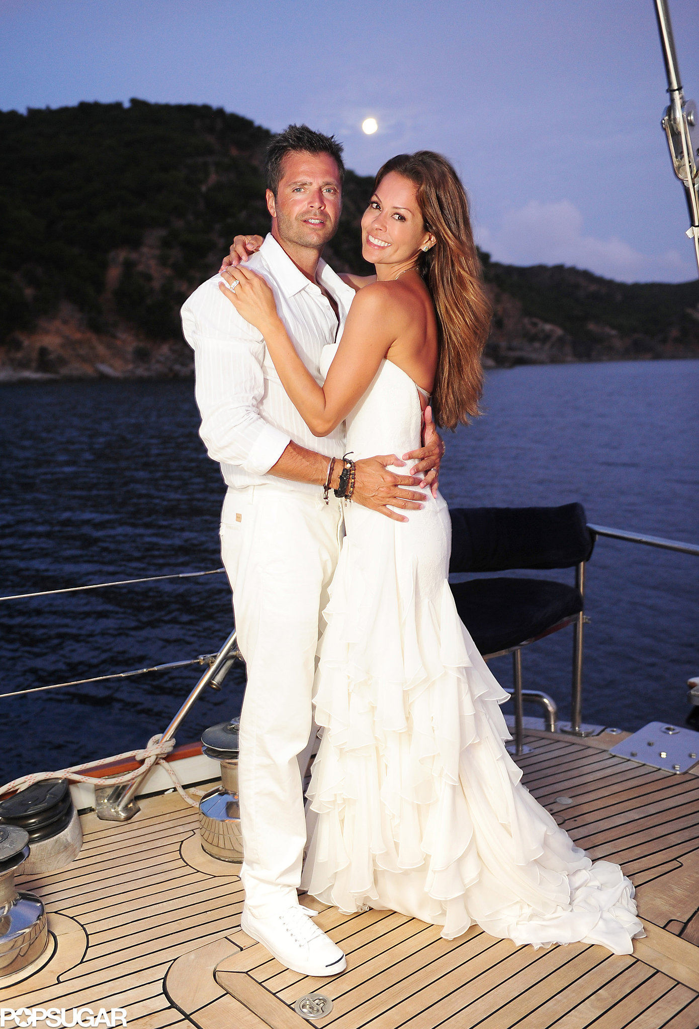 Brooke Burke and David Charvet wed in August 2011 in St. Barts.
