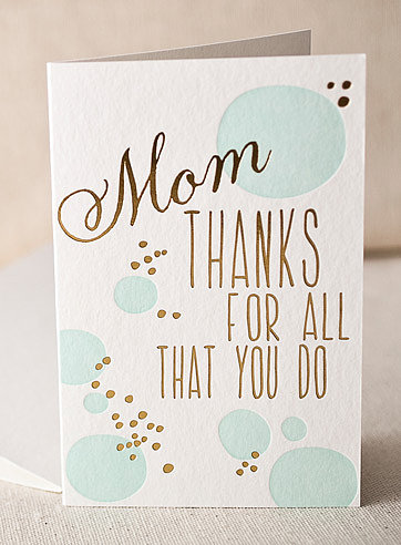 A little glitzy, a little glam, Smock Paper's For All You Do ($4) card says what we often think, but don't say out loud.