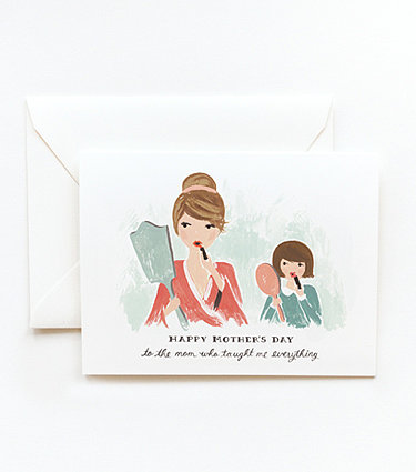 Rifle Paper Co.'s sweetly illustrated mother-daughter card ($5) is sure to make its recipient smile.